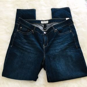 Torrid Dark Wash Distressed Skinny Jeans 22T